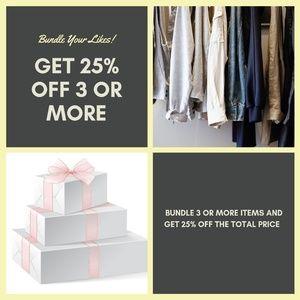 25% off bundles of 3 or more